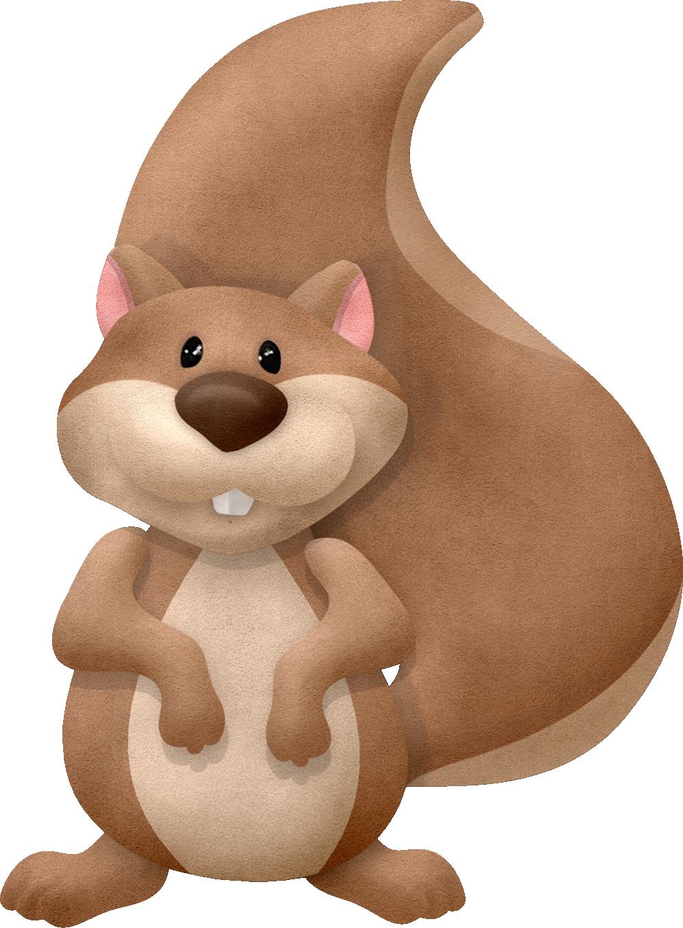 Woodland clipart beaver. Squirrel maryfran png clip