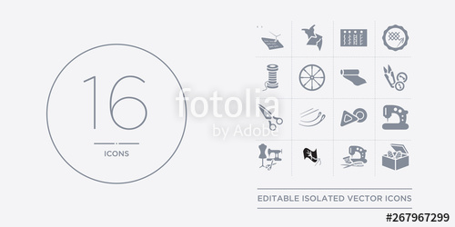 Crafts clipart sewing box.  vector icons set