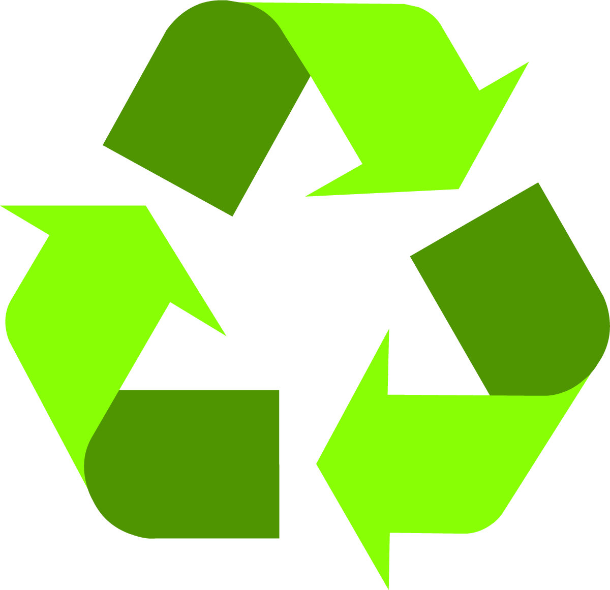 Crafts clipart sign. Light green universal recycling