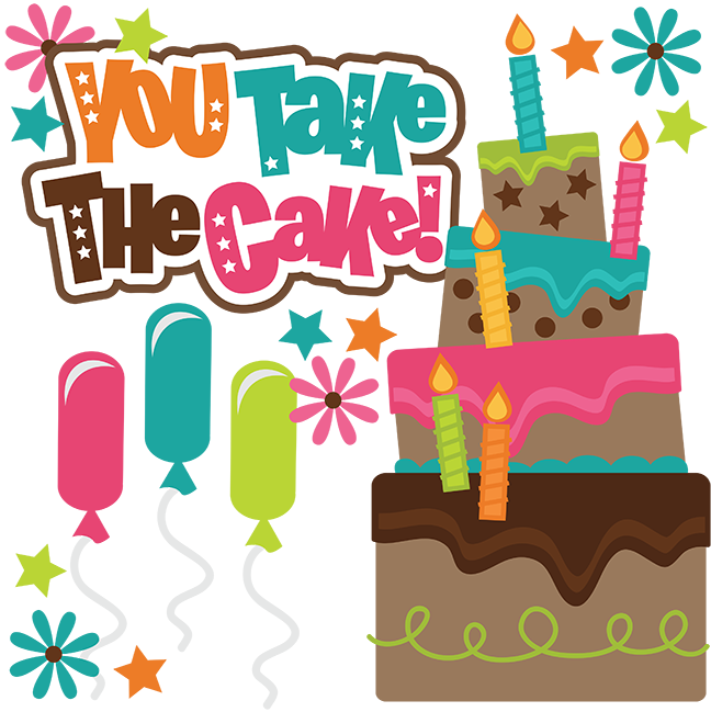 Scrapbook clipart happy birthday. You take the cake