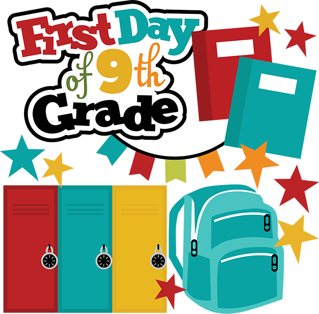First day of th. Grades clipart eighth grade