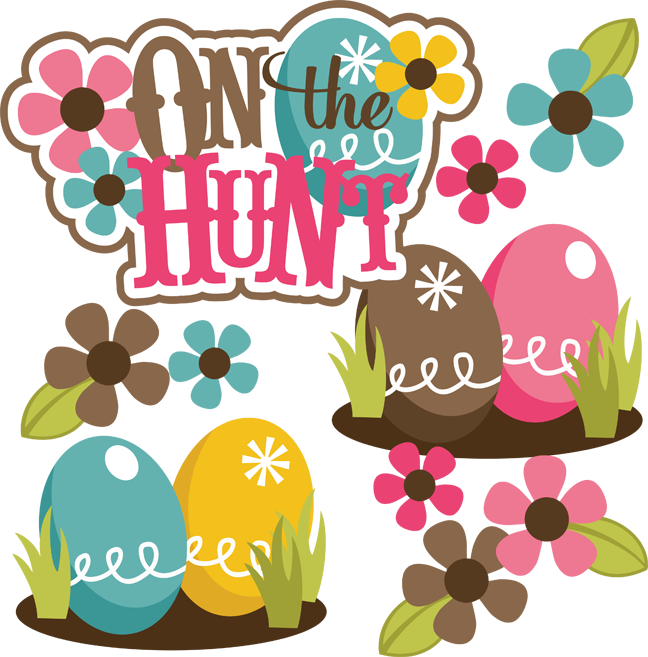 Scrapbook clipart easter. On the hunt svg