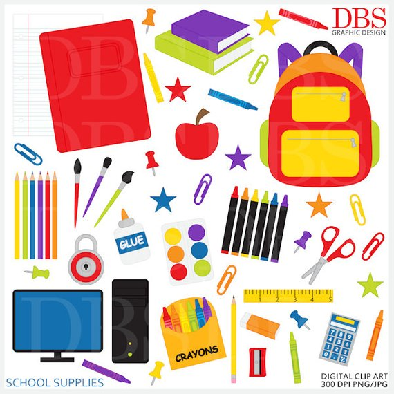 Crafts clipart teaching supply. School clip art digital