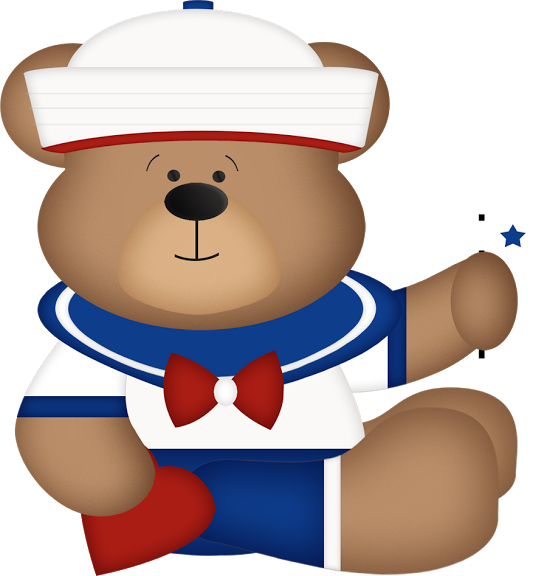 Nautical clipart teddy bear. Ositos marineros carmen ortega