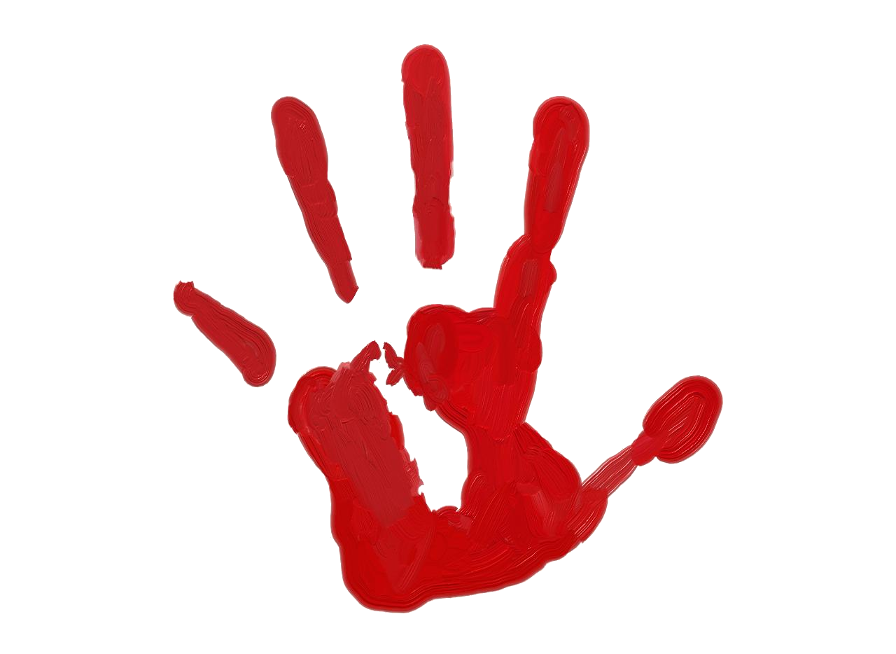 Left handprint png transparent. Fingers clipart cute hand