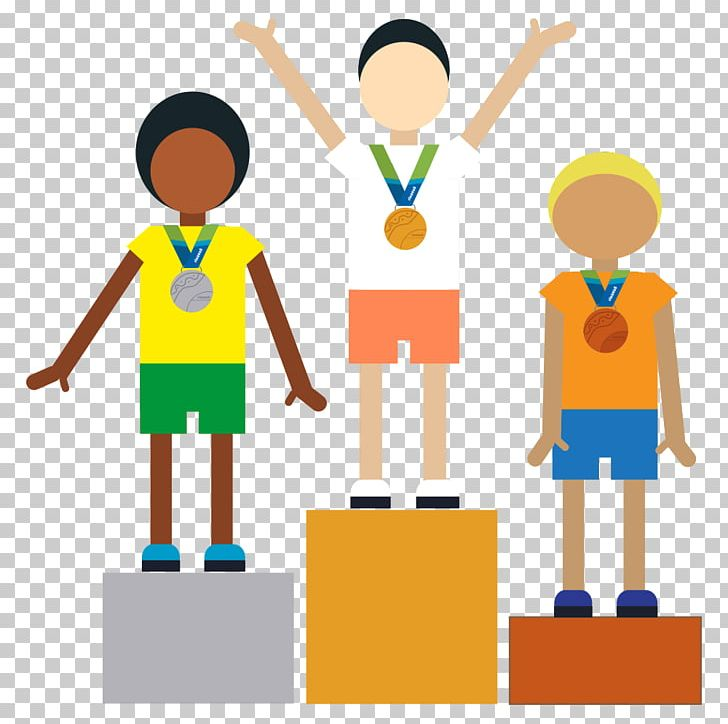 Paper gold medal craft. Crafts clipart useful material
