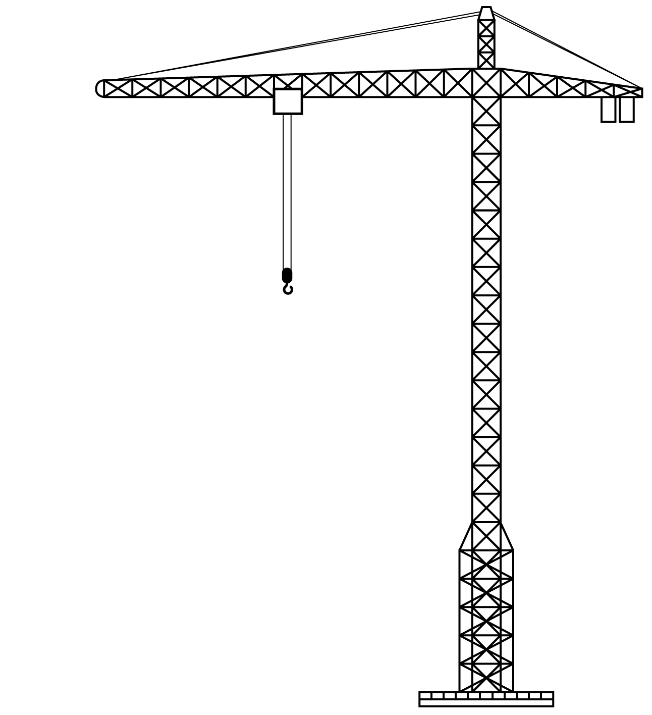 Tower clipart coloring page. Crane transparent png stickpng