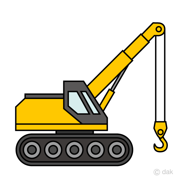 Simple crawler free picture. Excavator clipart crane truck