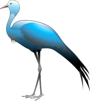 Free cliparts download images. Crane clipart blue crane