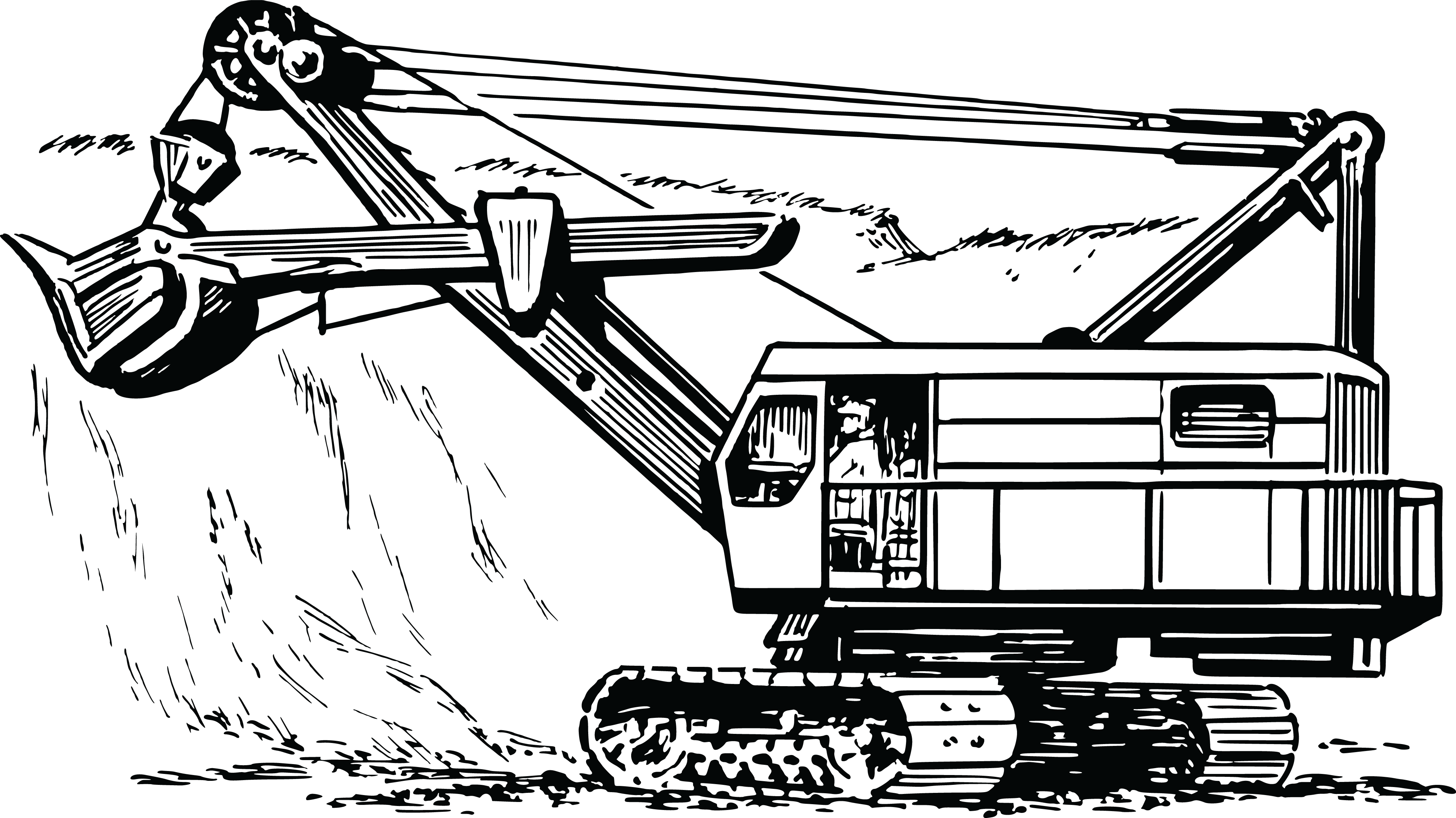 Excavator clipart cartoon. Equipment contractor frames illustrations