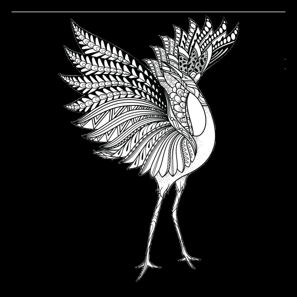 Crane clipart brolga. Connecting the dots totem