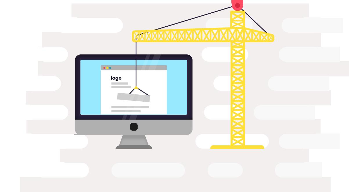 Landing page optimization services. Website clipart conversion