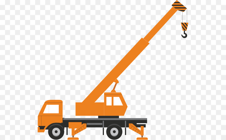 Crane clipart cartoon construction. Transport