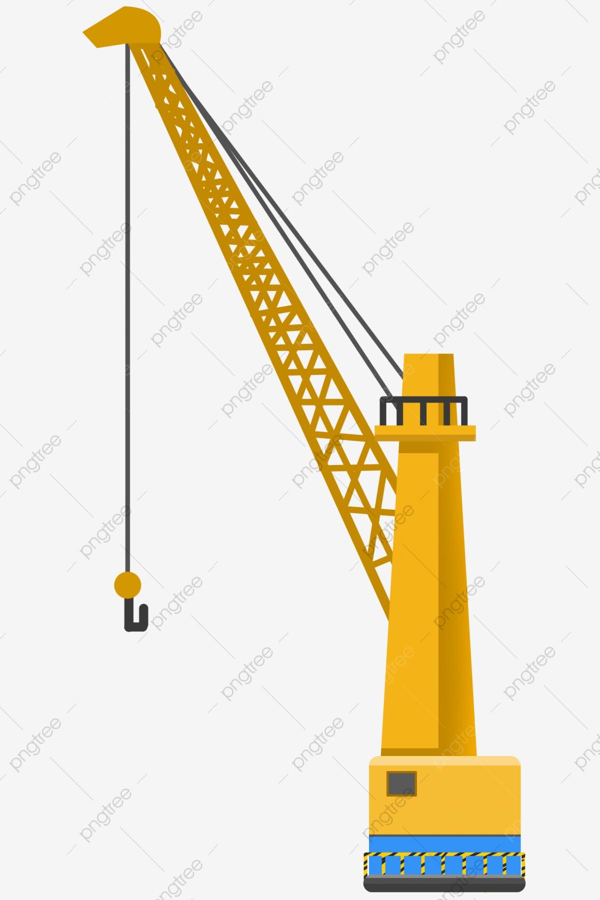 Illustration . Crane clipart cartoon construction