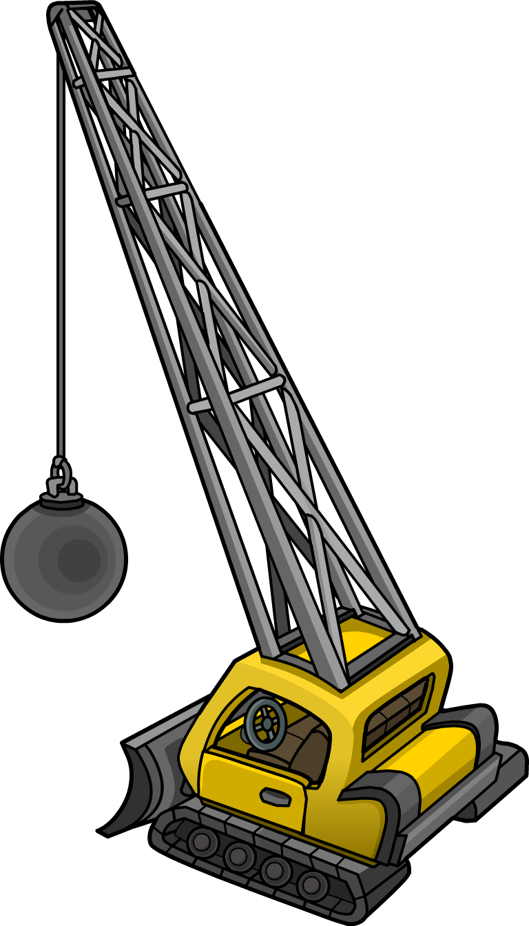 Crane clipart construction equipment. Club penguin wiki fandom