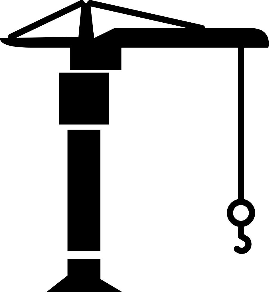 Crane clipart construction logo. Machine svg png icon