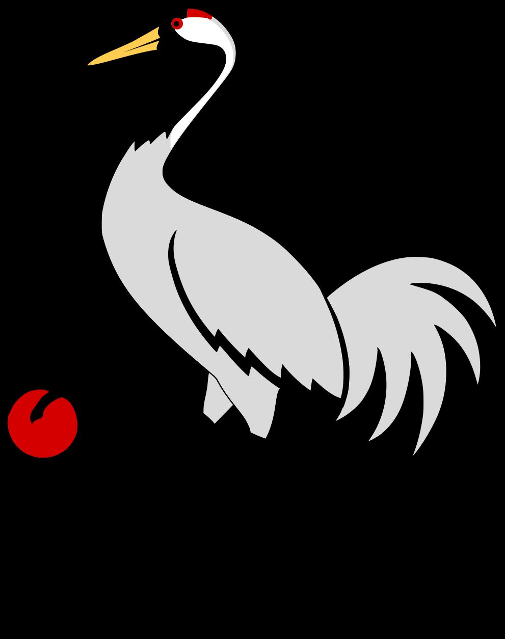 File heraldic svg wikimedia. Crane clipart crane japanese