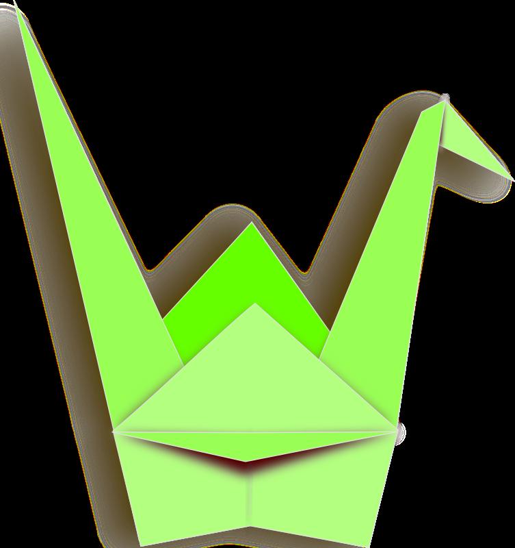 Paper medium image png. Crane clipart crane japanese