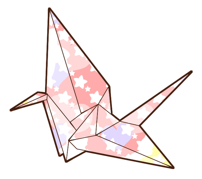 Crane clipart crane japanese. Origami drawing image collections