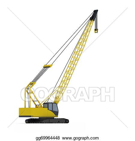Crane clipart crawler crane. Stock illustration gg gograph