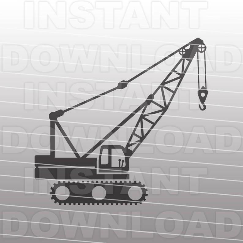 Crane clipart crawler crane. Svg file operator construction
