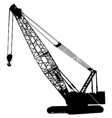 Pin by baha essed. Crane clipart crawler crane