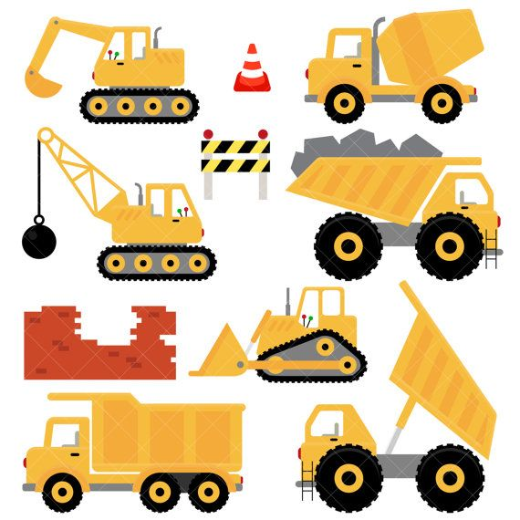 Oil clipart digger. Trucks and diggers construction