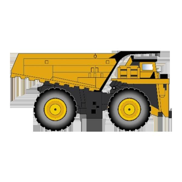 Crane clipart heavy vehicle. Dump truck equipment dumper
