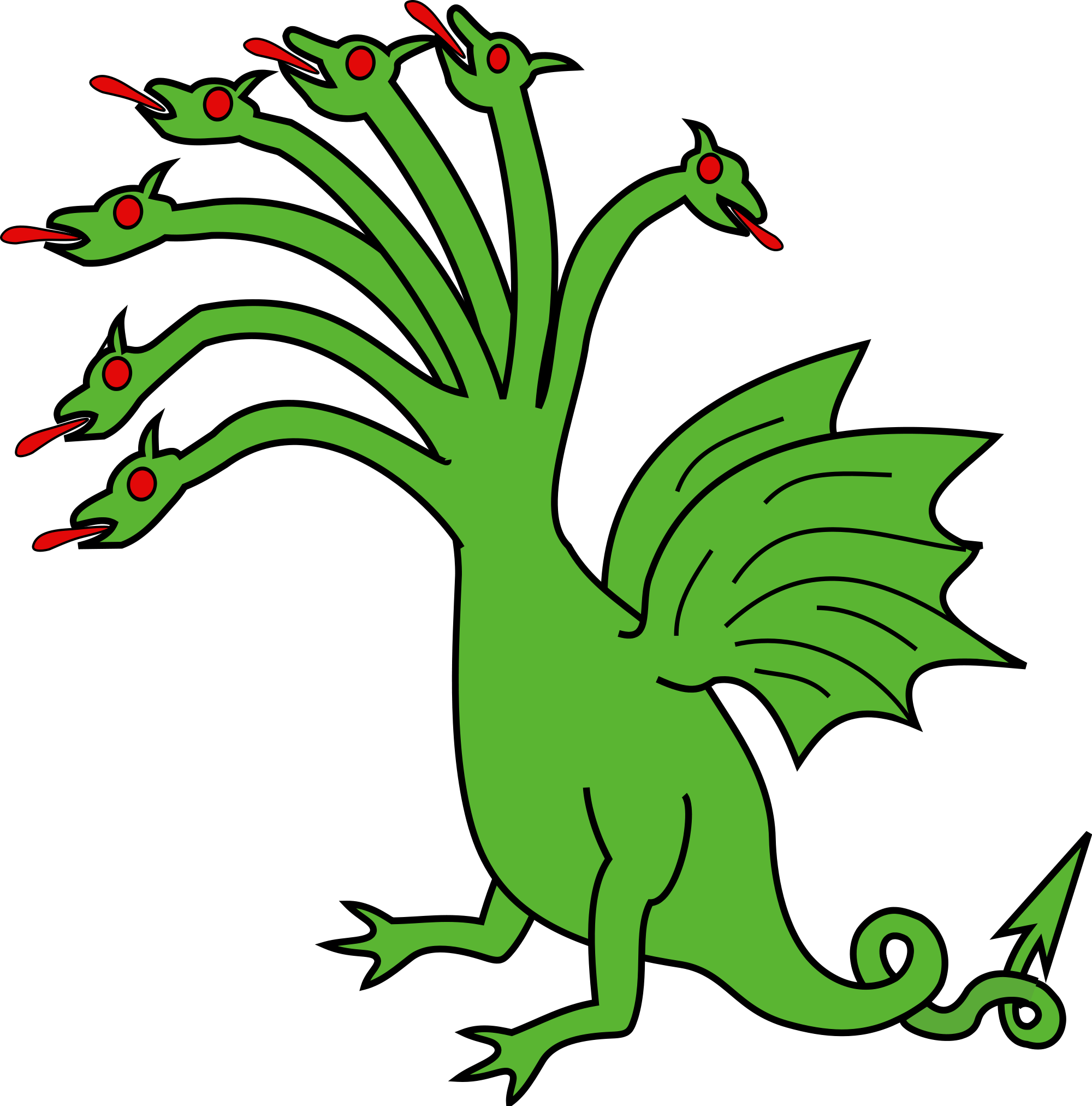 At getdrawings com free. Dragon clipart hydra
