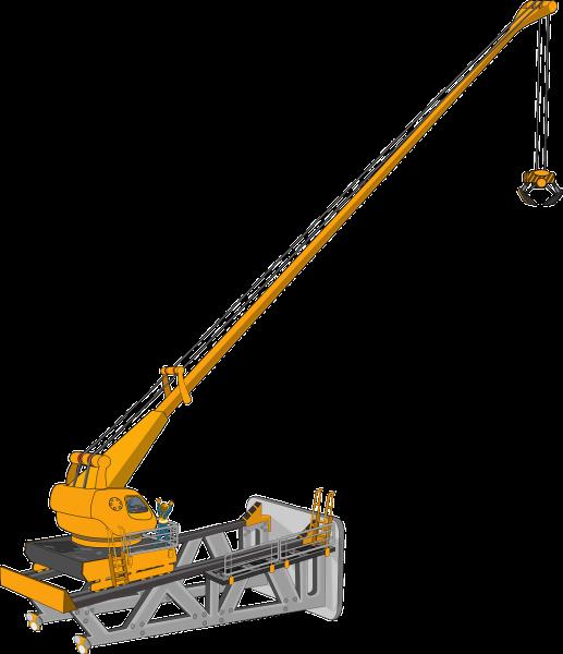 Crane clipart hydraulic crane. Group nice clip art