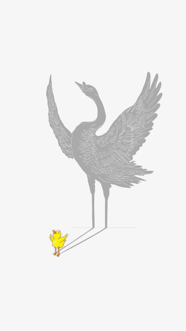 Small yellow duck and. Crane clipart large
