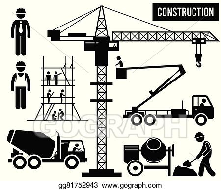 Vector stock heavy construction. Crane clipart large
