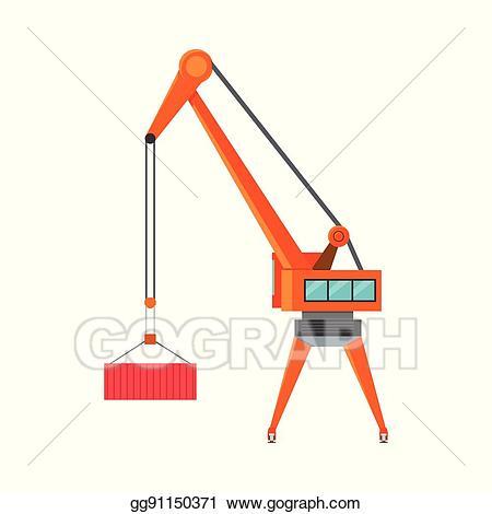Crane clipart large. Eps illustration industrial loading