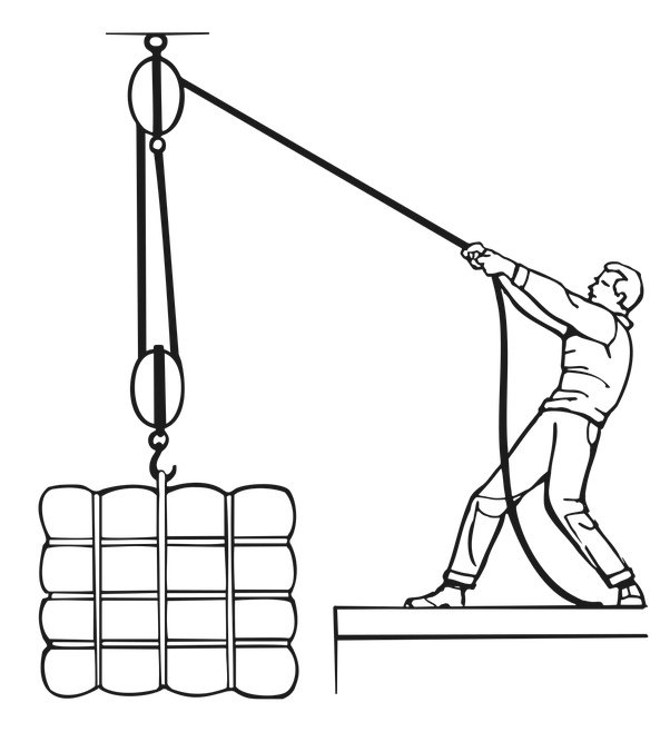 Crane clipart movable pulley. Examples of pulleys choice