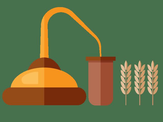 Alcohol distillery plants chemical. Evaporation clipart chemistry definition