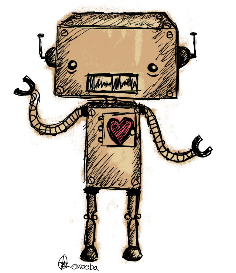 Steampunk clipart gearbox. Cute retro robot by