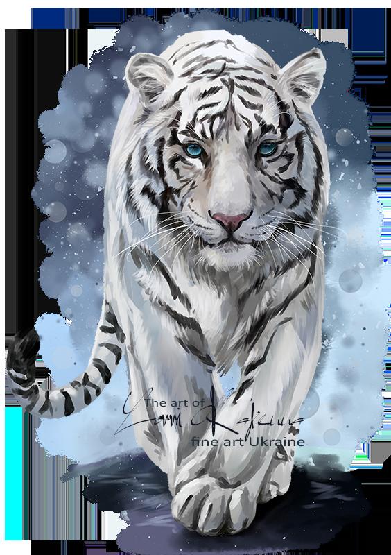White by kajenna deviantart. Tired clipart tiger