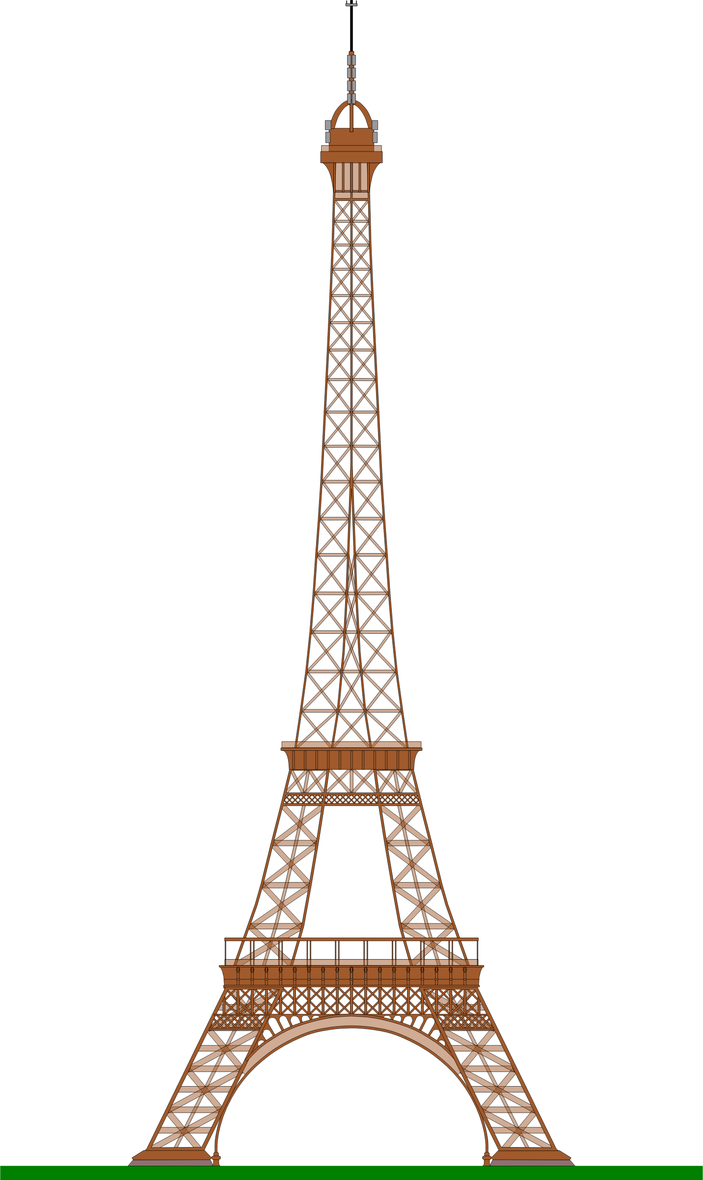 Eiffel tower by ajaborsk. Paris clipart drawing