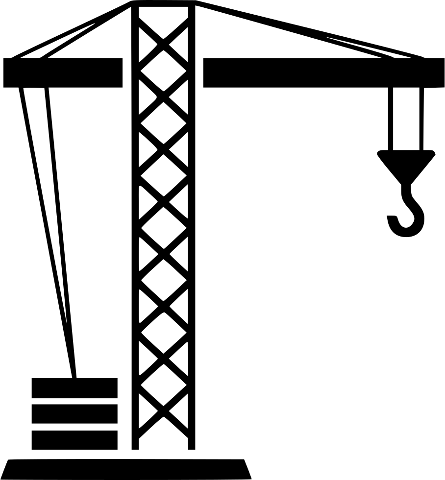 Svg png icon free. Crane clipart small tower