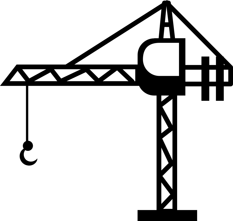 Crane clipart small tower. Svg png icon free
