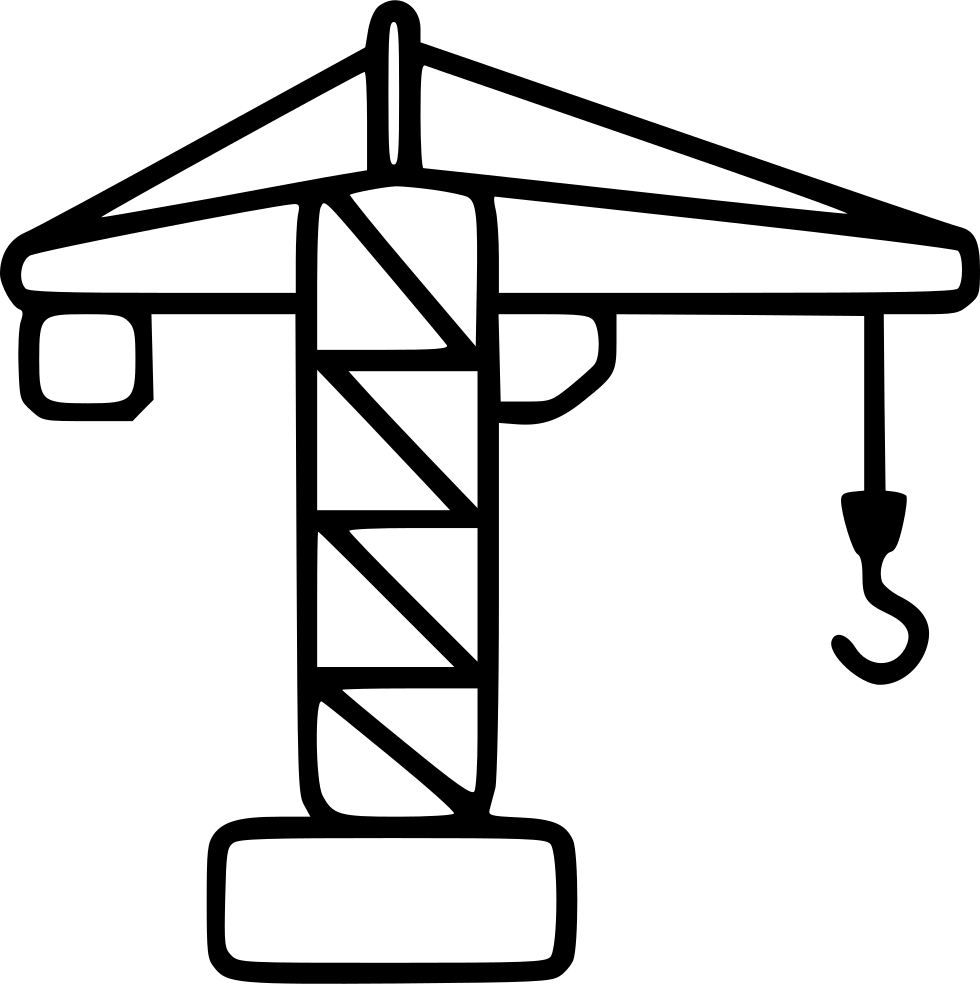 Construction power load elevator. Crane clipart small tower