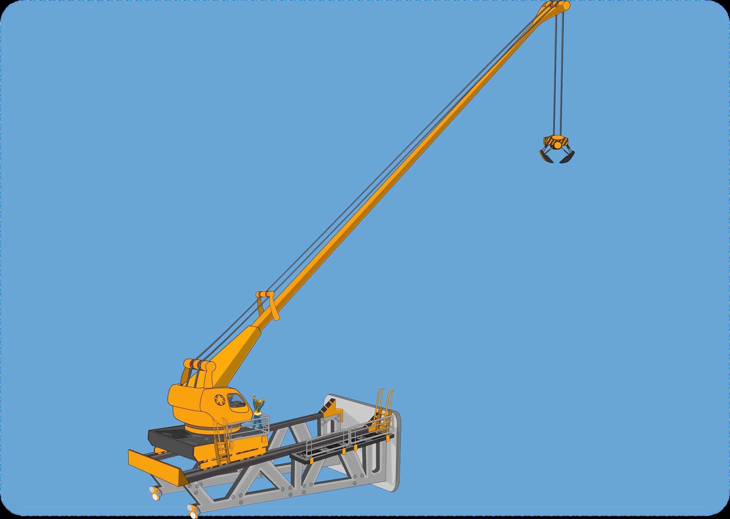 Big image png. Crane clipart under construction