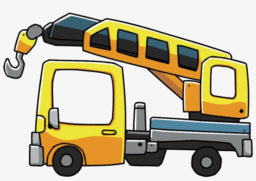 Crane clipart work vehicle. Cartoon png free