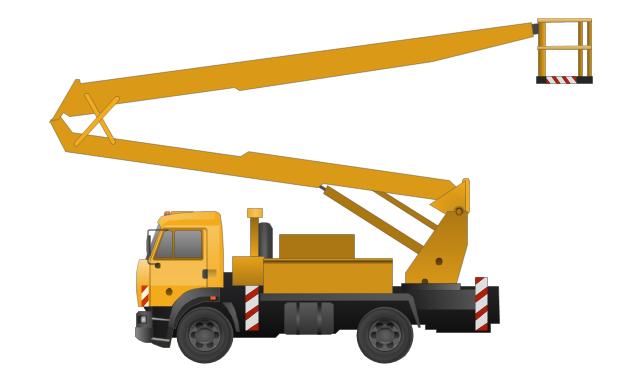 Crane clipart work vehicle. Car cartoon truck transport