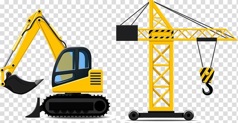 Crane clipart yellow. And black tower bulldozer