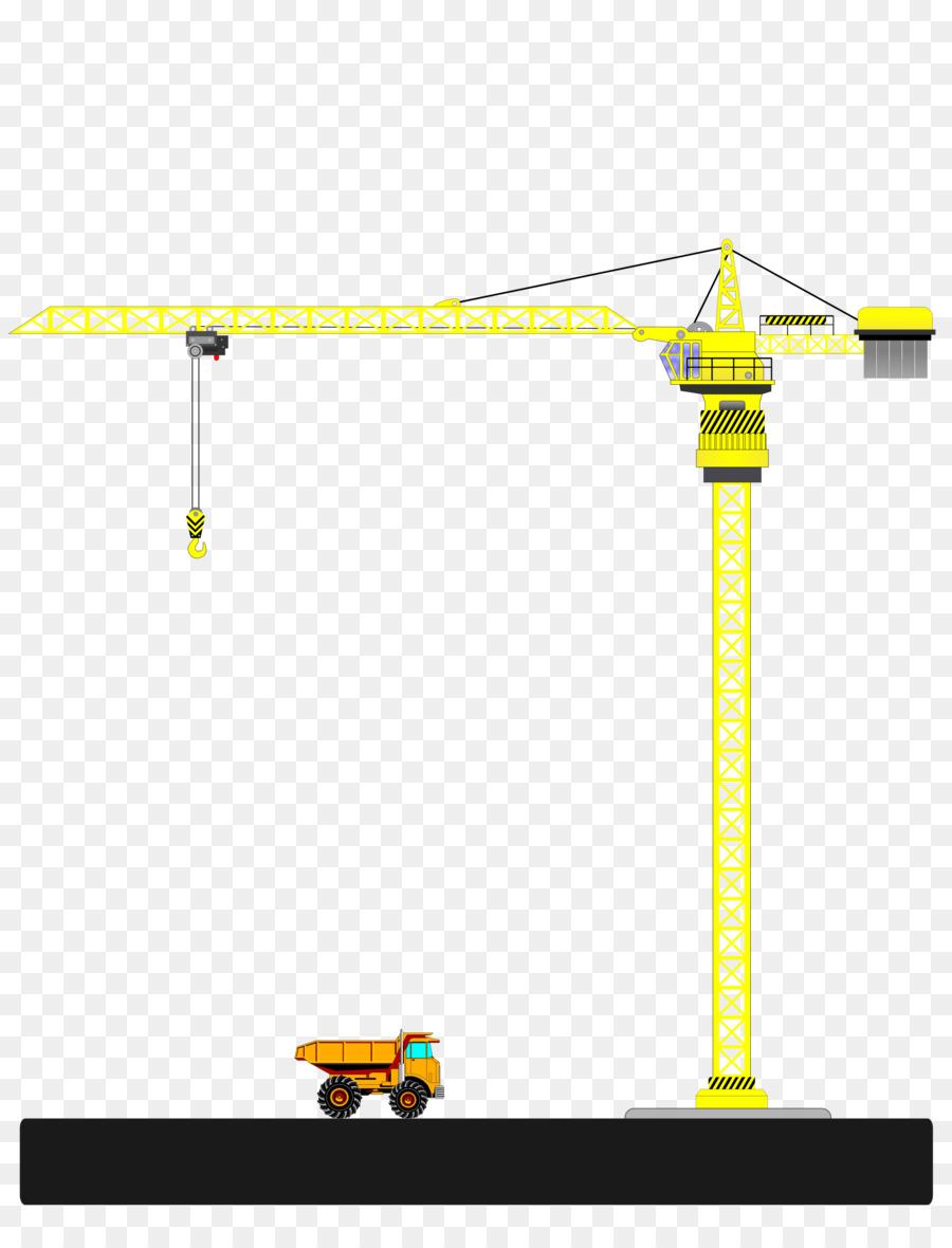 Background construction transparent clip. Crane clipart yellow