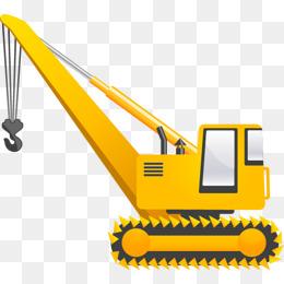 Crane clipart. Truck png vectors psd