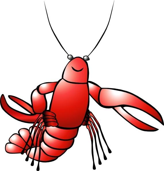 Clip art free vector. Crawfish clipart