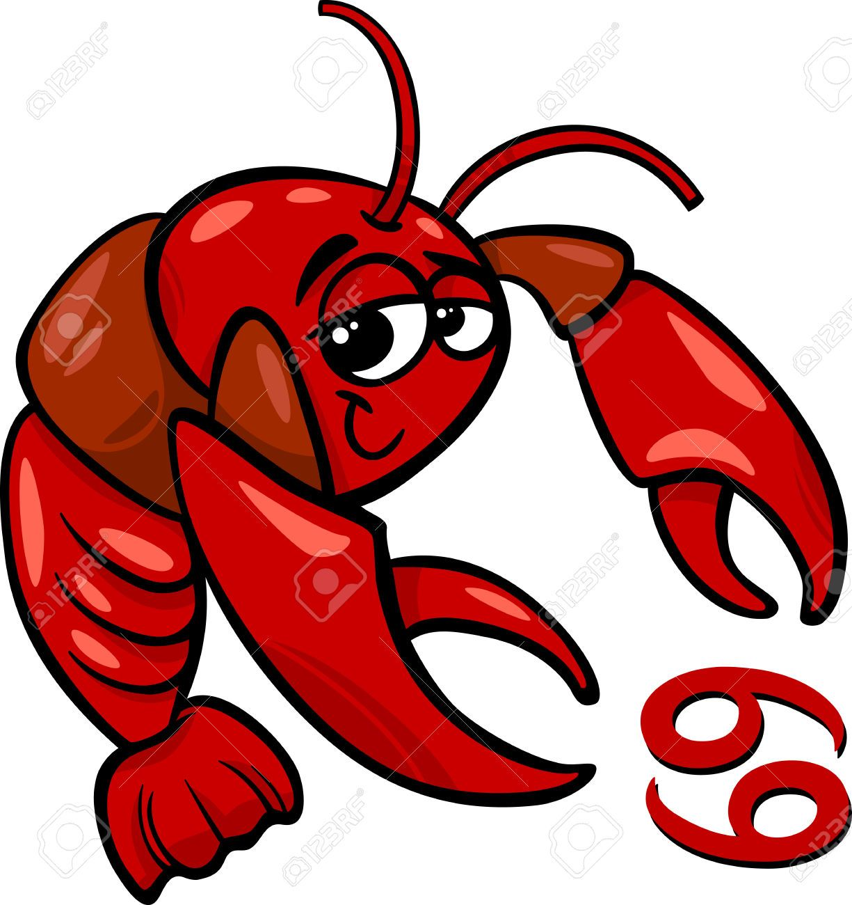 Stock illustrations cliparts and. Crawfish clipart baby