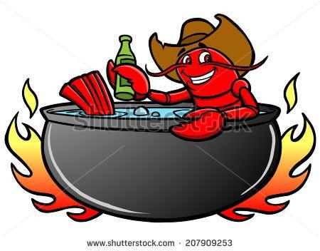 Crawfish clipart beer. Free cartoon art vector